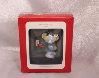Hallmark Holiday Friends Mouse Ornament Limited Edition  First in a series Original Box