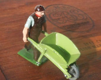 Wheelbarrow Guy / Jo Hillco / Farmer with sleeves pushed up miniture / Great Color