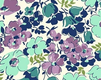 Hello Jane Purple Lilac Packed Floral Fabric by Allison Harris for Windham Fabrics 100% Cotton by the half yard