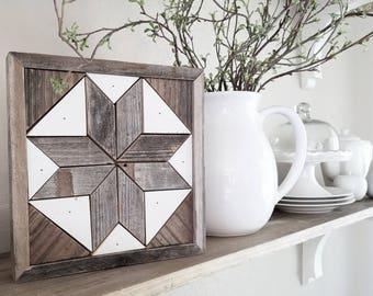 Reclaimed wood quilt art