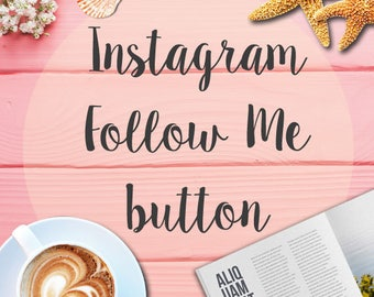 Instagram Follow Me button integration on WordPress