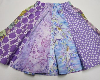 Girls Lavender Fairy Twirly Skirt in Sizes 6  7   8  and   10
