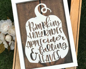 Fall Sign - Fall Wood Sign - Fall Decor - Thanksgiving Decor - Pumpkin Decor - Rustic Fall Decor - Autumn Sign - Fall Decorations