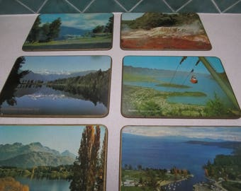 Six Vintage New Zealand Placemats in Original Box - Souviner -1960's - Jason Brand