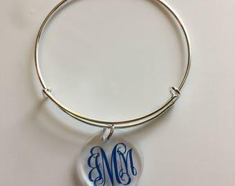 Monogrammed Bangle Bracelet/Bangle Bracelet/Monogrammed Bracelet