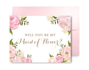 Will You Be My Bridesmaid Card, Bridesmaid Cards, Ask Bridesmaid, Bridesmaid Maid of Honor Gift, Matron of Honor, Flower Girl #CL214