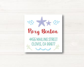 Under The Sea, Custom Return Address Label, Personalized, MATTE, Birthday, All Occasions