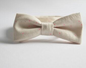 Pink Sprinkles Bow Tie