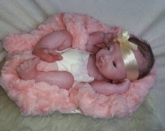 DRINK-WET Barbara preemie-Fullbody silicone OOAK Magdalena's Art-Baby doll