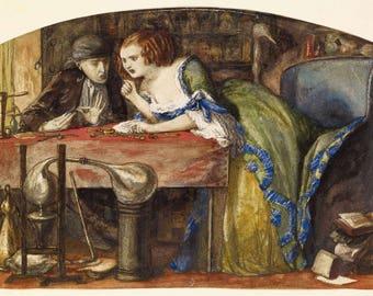 Dante Gabriel Rossetti: The Laboratory. Fine Art Print/Poster (004565)