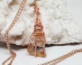 Wire Wrapped ANGEL Phantom QUARTZ Amphibole Necklace OOAK Handmade Jewelry Healing Crystal Jewelry Stone Fairy Wicca Bohemian Jewelry APQ37