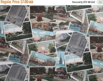 WOW SALE Vintage USA Postcard Fabric - Life's Journey by Robert Kaufman 2506 - 1 Yard Only