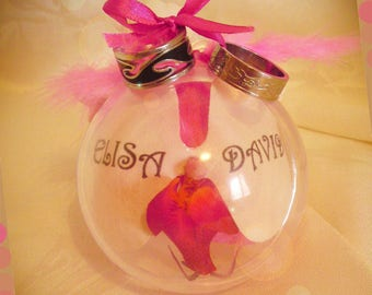 Ball plexi and customize artificial Orchid ring bearer