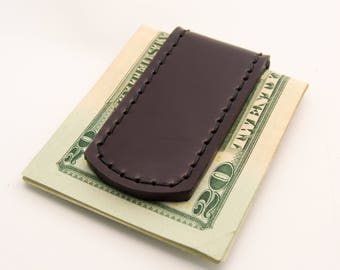 Magnetic Money Clip - Shell Cordovan