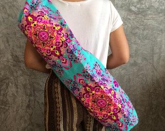 Turquise Yoga Bag / Yoga Mat Bag / Pilates Mat Bag / Gift for friends