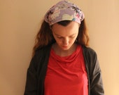 RESERVED FOR  Seili Purple Floral Headcovering (extra wide)