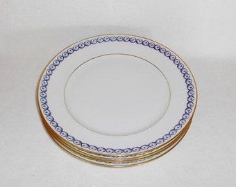 Richard Ginori Italy Elba Pattern Dinner Plates ~ Set of 4