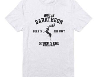 House Baratheon Tshirt Ours Is The Fury Shirt Storm shirt Game of Thrones Tshirt Cute Gift Funny Tee Cool Graphic Shirt Men Shirt Tee Women