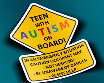 Teen With Autism Car Truck Decal Sticker