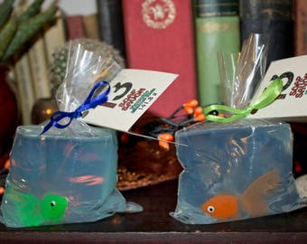 Fish In A Bag Novelty Soap