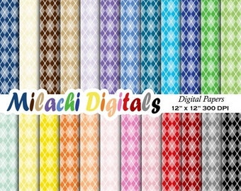 60% OFF SALE Argyle digital paper, scrapbook papers, background, wallpaper, commercial use, printable papers - M318