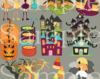 Digital Resource 55 Halloween Elements Commercial Use PDF