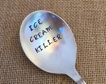 Stamped Ice Cream Spoon