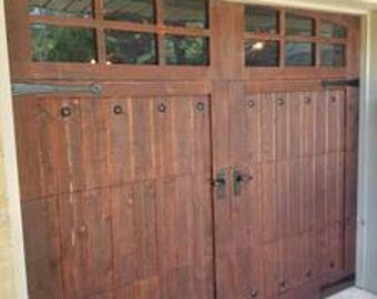 Customizable Cedar Garage Door