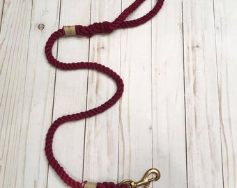 4ft Wine Rope Leash