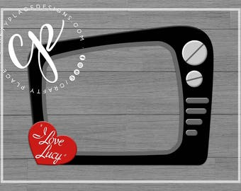 I love Lucy photo booth frame | Bridal shower photo booth prop | Bachelorette photo prop | Selfie frame | Printed