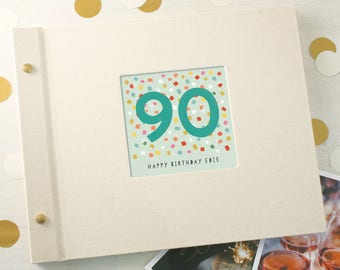 Personalised 90th Birthday Photo Album