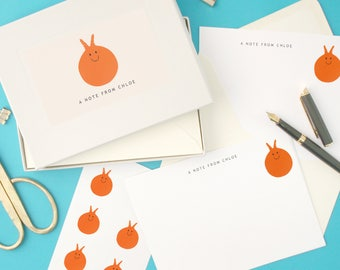 Personalised Space Hopper Writing Set