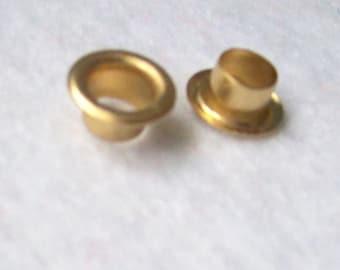 Grommets Eyelets Gold 7mm eyelets rivets - pack of 20