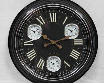 Black Retro Wall Clock