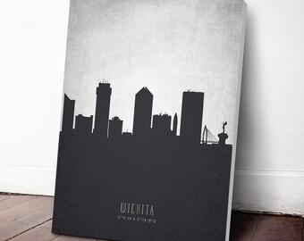 Wichita Skyline Canvas Print, Wichita Cityscape, Wichita Art Print, Home Decor, Gift Idea, USKSWI19C