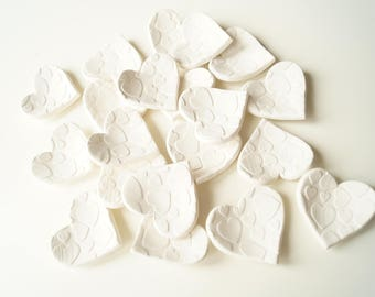 Wedding Favors, Guest Favors, White Hearts, Set of 20, Ready to Ship