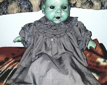 Morbidly happy Zombie baby!