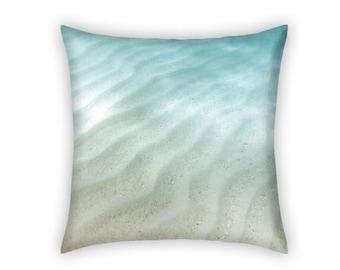 Ocean Pillow / Ocean Decor / Underwater Decor / Turquoise Decor - Gift for Him / Gift for Her - Tropical / Caribbean Beach Decor