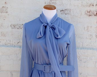 Vintage Periwinkle Breezy Dress 1970s