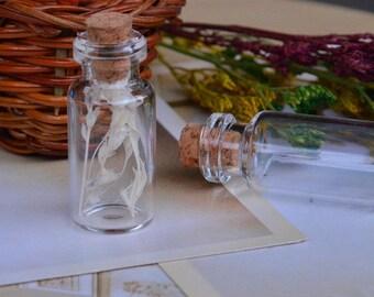 SET of 5 glass jars + CORK (16x35x6mm) (PZ017)