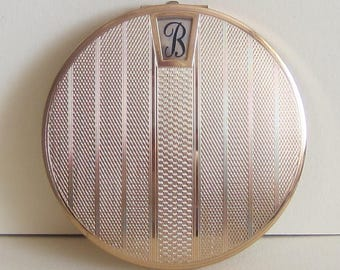 Vintage Stratton Initial Powder Compact