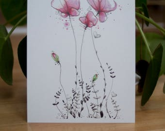 MAP postcard unit series So Lovely poppies • • • paper recycled 350gsm