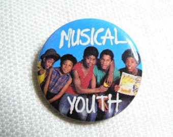 "Vintage 80s - Musical Youth - ""Never Gonna Give You Up"" Single (1983) - Pin / Button / Badge"