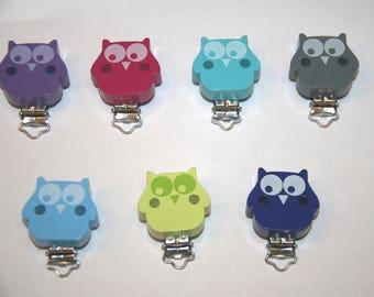 Wooden clip Owl