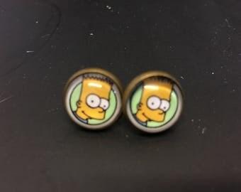 BArt simpson funky cartoon simpson family stud earrings