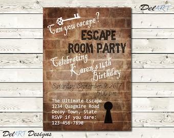 Escape Room Invite Background