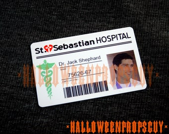 LOST ID Card Replica of Jack Shephard St. Sebastian Id Card Badge Or Dharma Intiative Swan Station Access Card - Your Choice  -  Made In USA