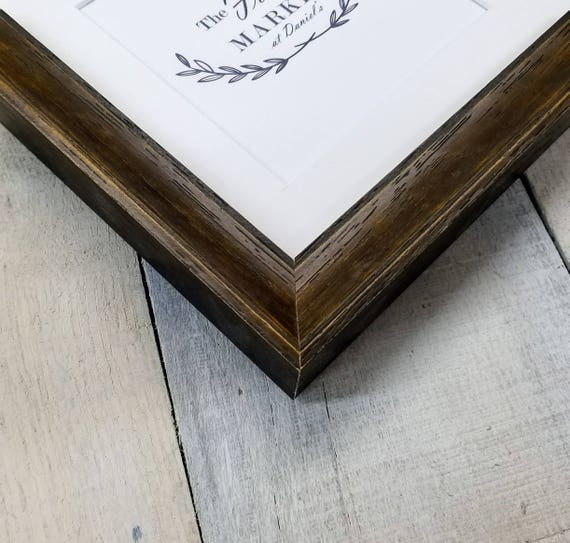 Keera Wood Picture Frame With White Mat 8x10 9x12 11x14