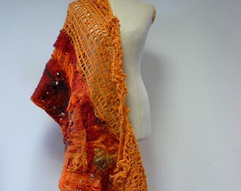 The hot price. Boho handmade felted shawl. Perfect for gift.