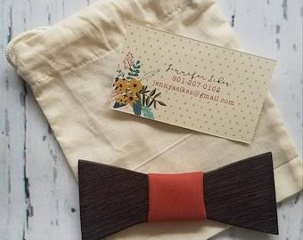 Exotic wooden bowtie -Wenge
